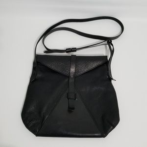 Map of Days Black Leather Bag